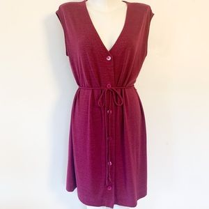Aritzia rayon/poly purple mini dress